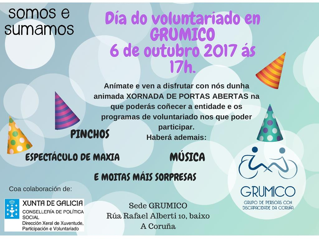 Día do voluntariado en GRUMICO